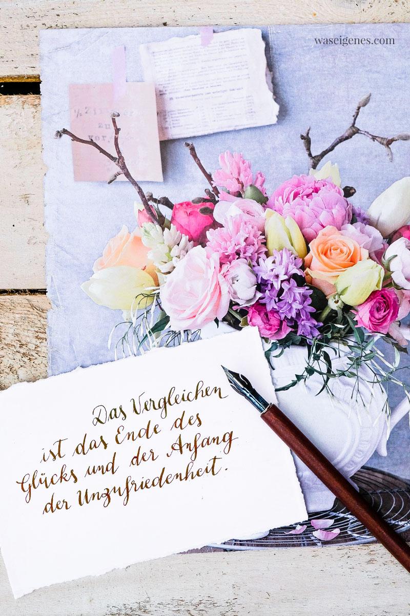 BlogLiebe: Das Vergleichen ist das Ende des Glücks und der Anfang der Unzufriedenheit (Zitat: Søren Aabye Kierkegaard), waseigenes.com