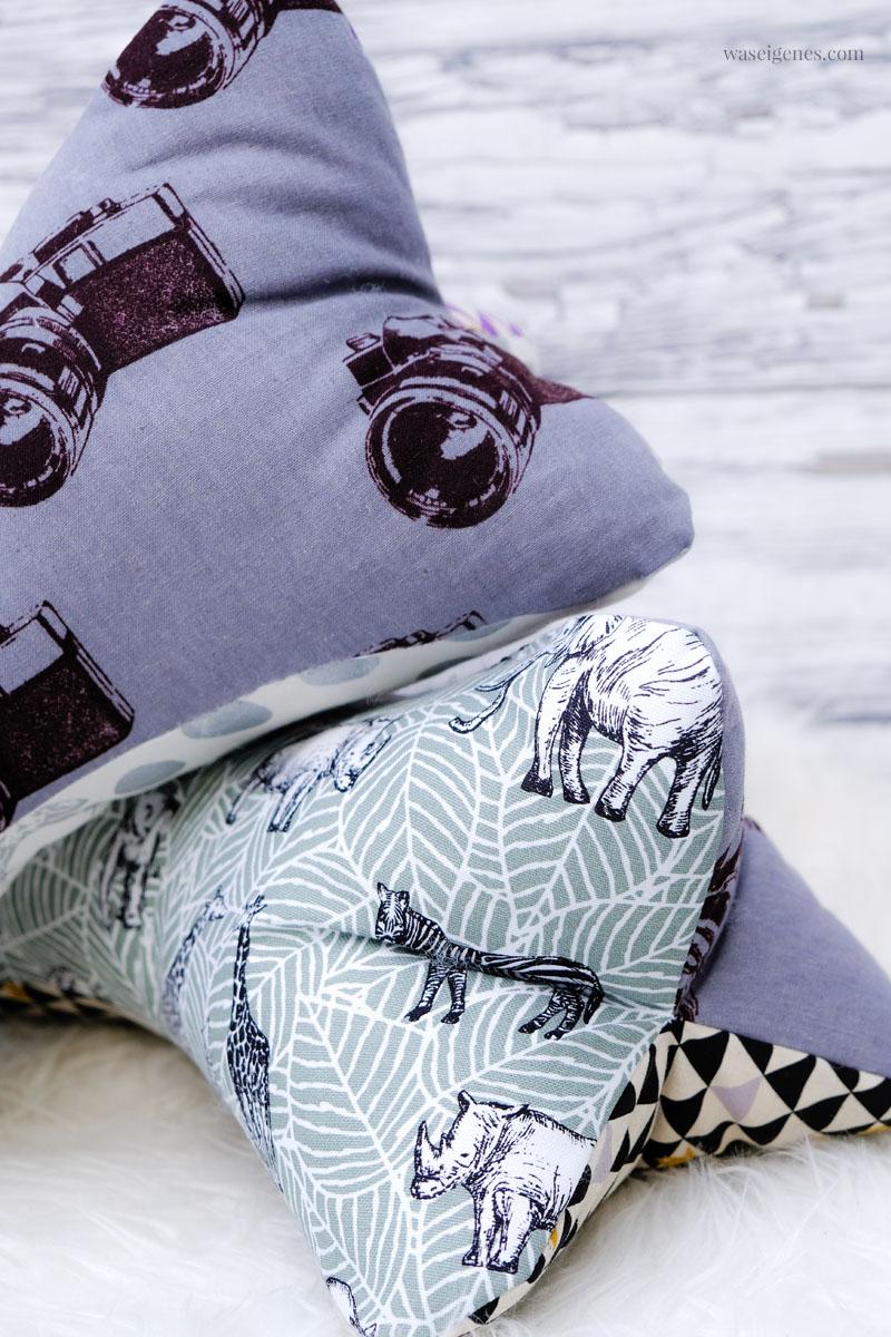 DIY Leseknochen. Selbst genähte Lesekissen in Form eines Knochens. Super einfach und sehr bequem. Eine tolle Alternative zum Leseherz von waseigenes.com | #leseknochen #DIY #nähen #einfach #schnell