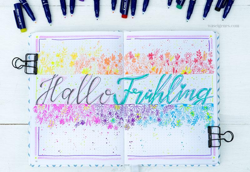 Bullet Journal: Hallo Frühling, waseigenes.com