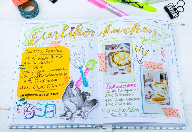 Bullet Journal: Rezept Eierlikörkuchen, waseigenes.com #rezeptkunst #illustration