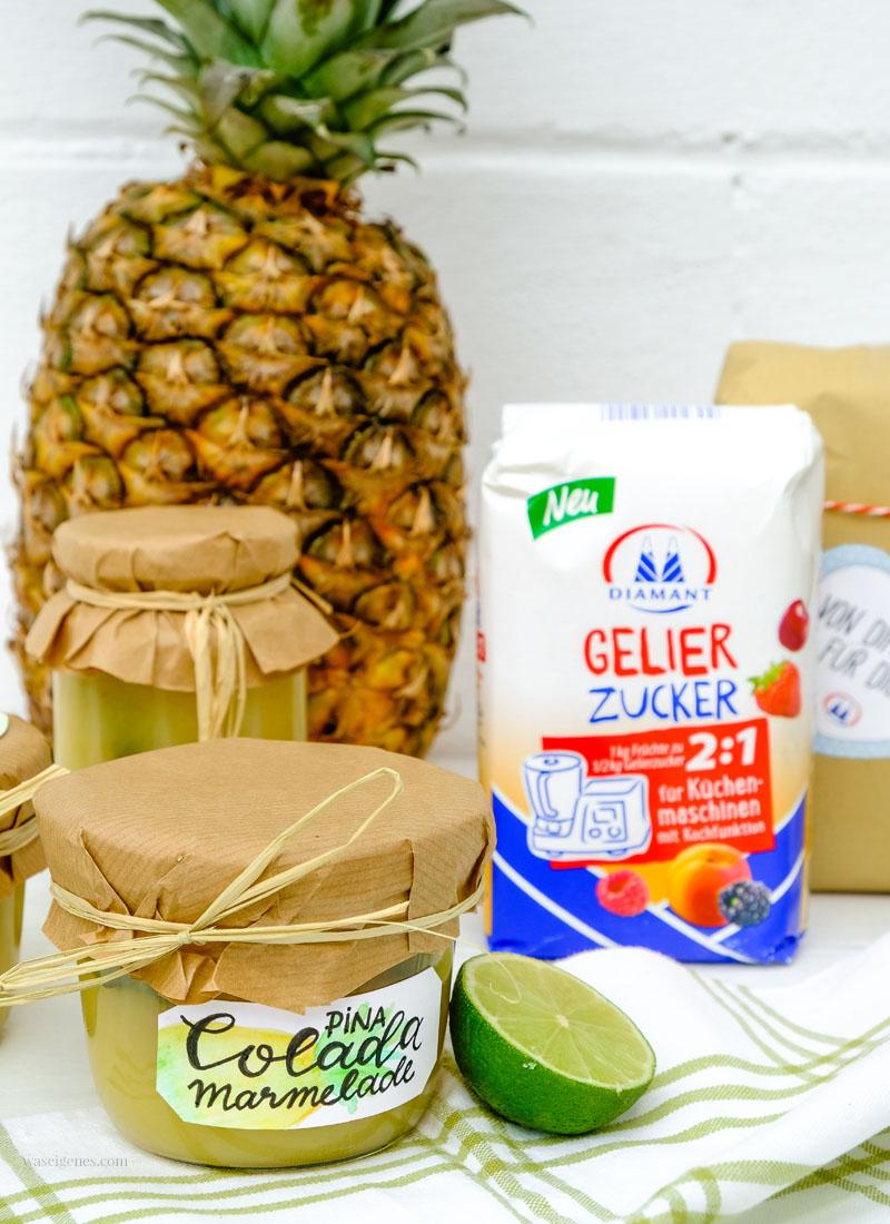Rezept: Piña Colada Marmelade | Thermomix Rezept | Kokos Ananas Marmelade mit einem Schuss Rum und Minze | waseigenes.com
