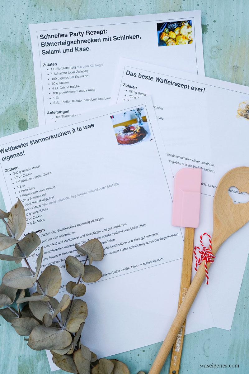 Service-Hinweis: Ab sofort könnt Ihr Euch hier Rezepte easy ausdrucken | waseigenes.com