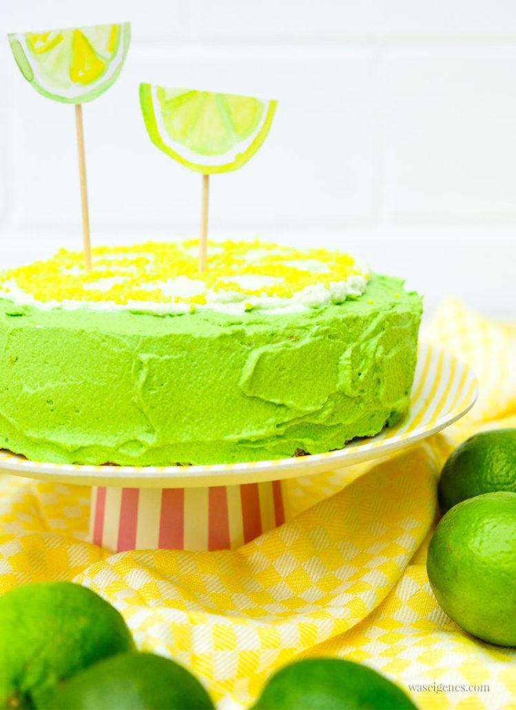 Limetten Törtchen, Cake-Topper & Aquarell Einladungen, waseigenes.com