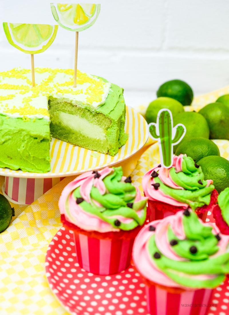 Summer Edition: Limetten Törtchen, Wassermelonen Cupcakes und Aquarell Einladungen zu Kaffeeklatsch, waseigenes.com