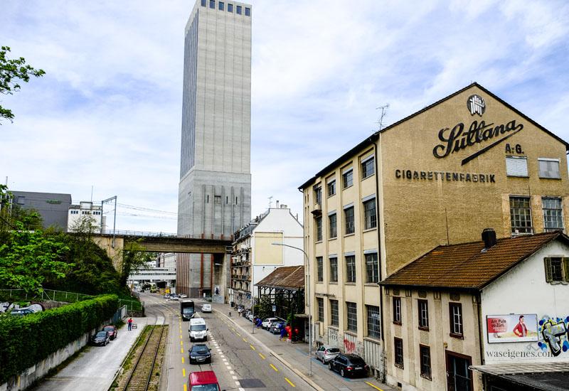 Zürich West, Sultana Cigarettenfabrik, Letten-Viadukt, Blick auf den Sihlquai, waseigenes.com