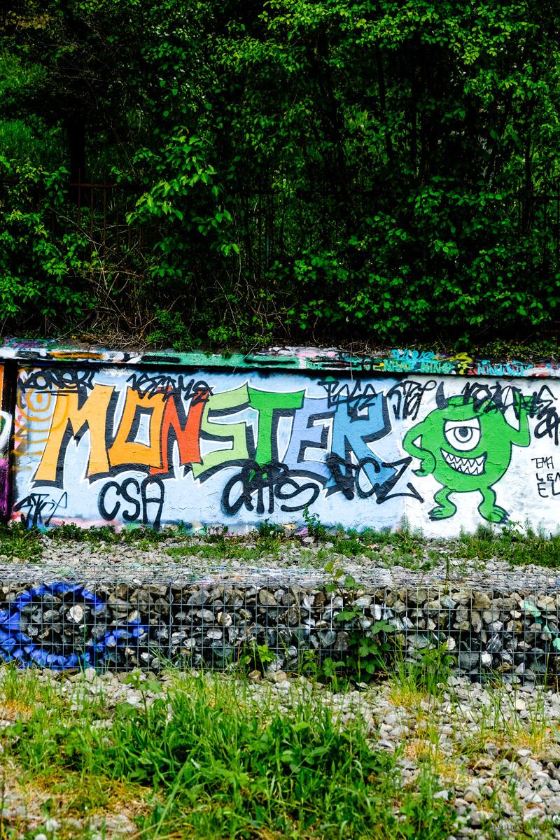Zürich, Kloster-Fahr-Weg, Wandmalerei, Monster, waseigenes.com