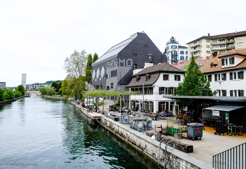 Jugenkulturhaus Dynamo und Cuchi am Wasser, Limmat, Zürich, waseigenes.com
