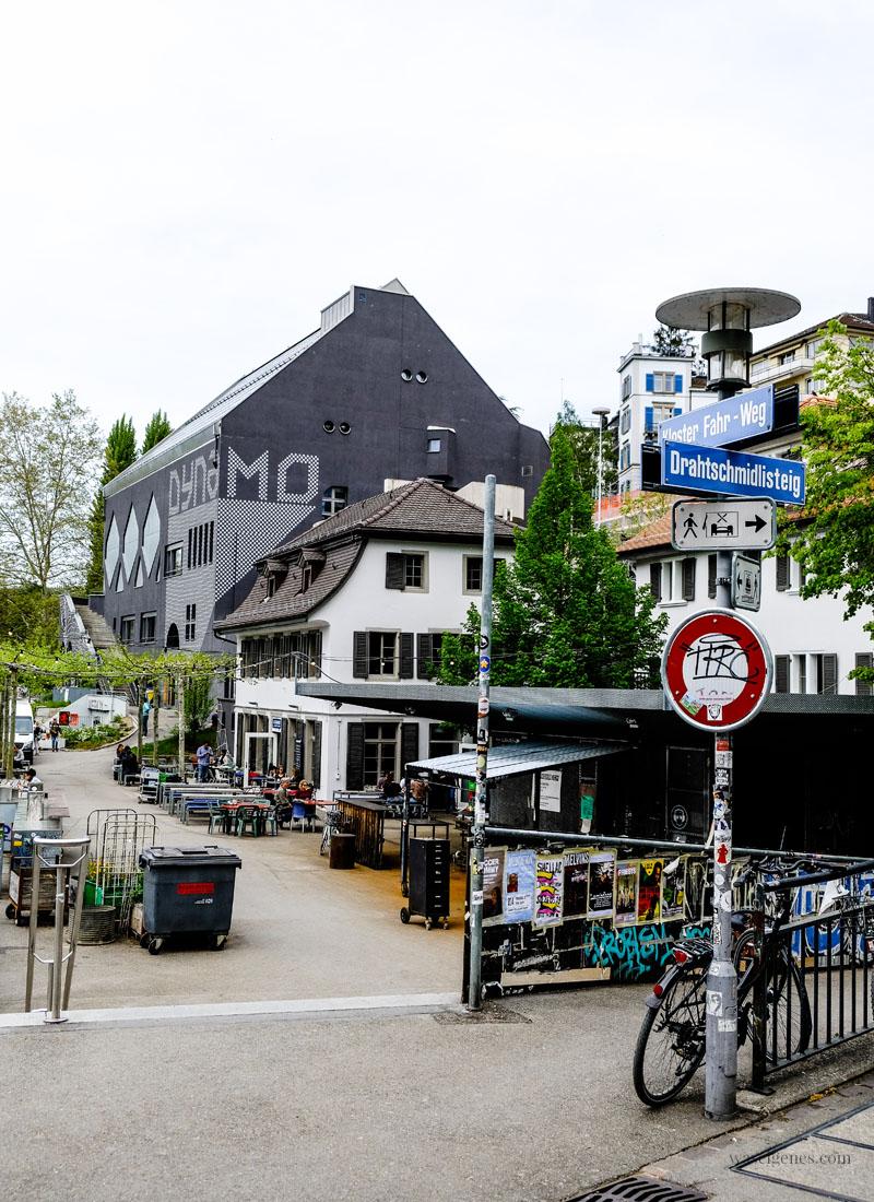 Jugendkulturhaus Dynamo und Cuchi am Wasser, Limmat, Zürich, waseigenes.com