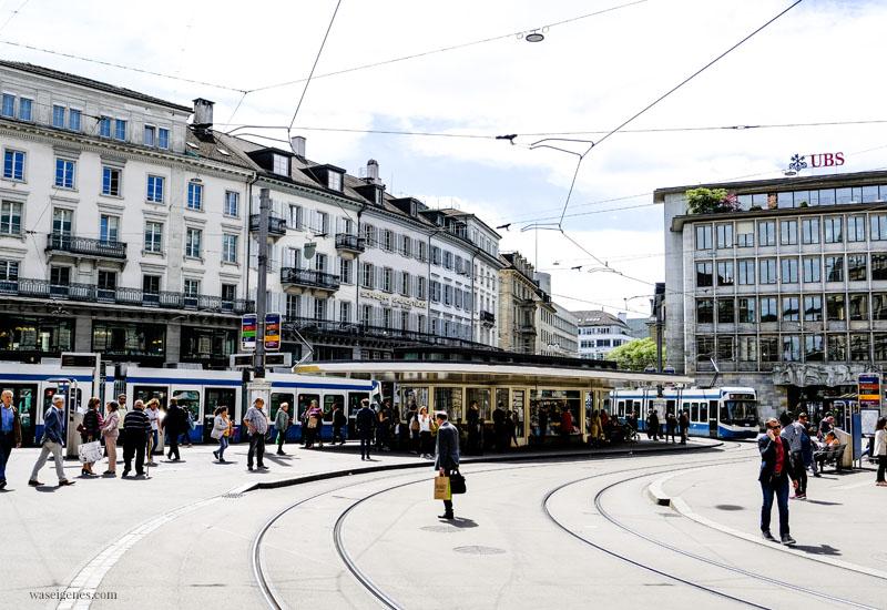 Zürich (Schweiz) Städtereise, Paradeplatz, waseigenes.com