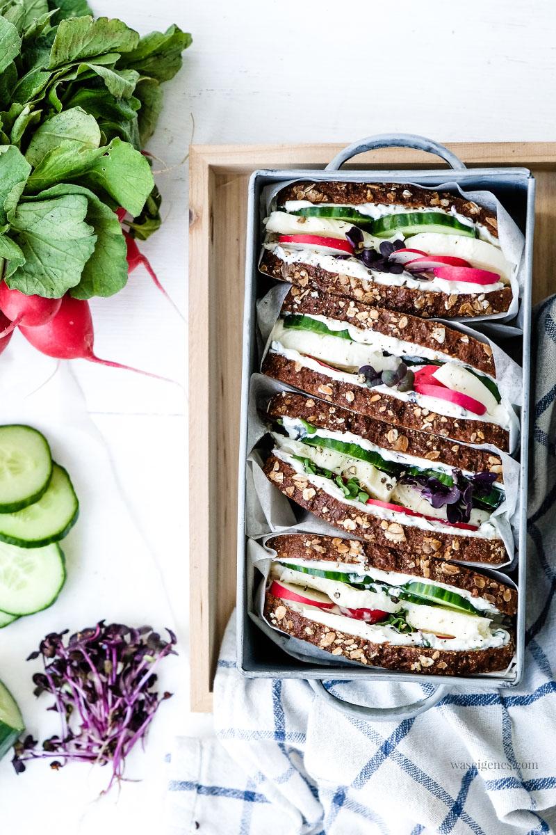 Rezept für ein Mozzarella-Gurken-Sandwich | Picknick | waseigenes.com
