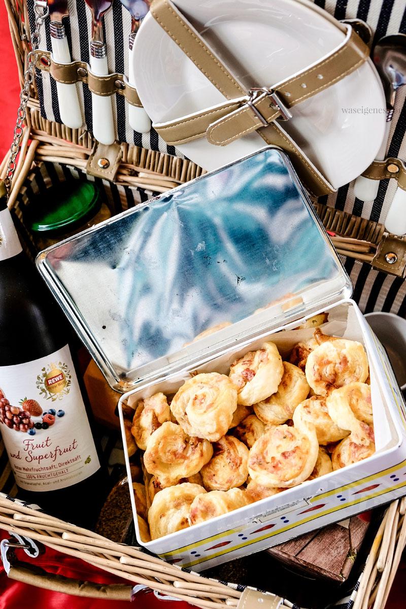 Sommer-Picknick: Blätterteigschnecken mit Schinken, Salami und Käse - Rezept: waseigenes.com