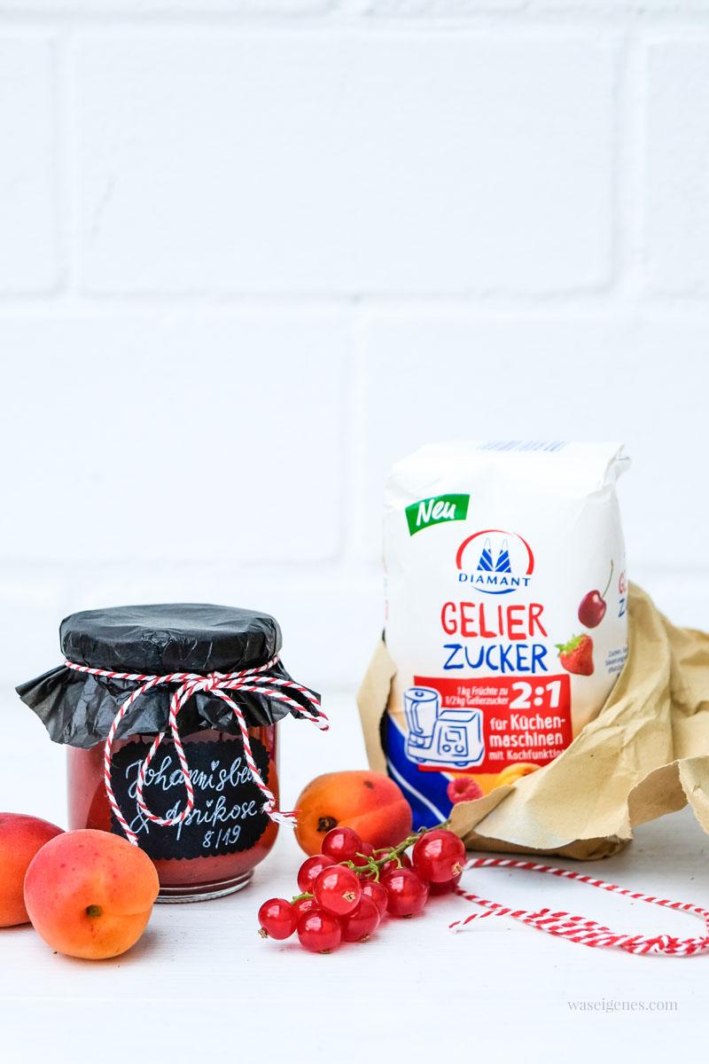 Thermomixrezept: Johannisbeer-Aprikosen-Marmelade mit Gelierzucker für Küchenmaschinen mit Kochfunktion, waseigenes.com