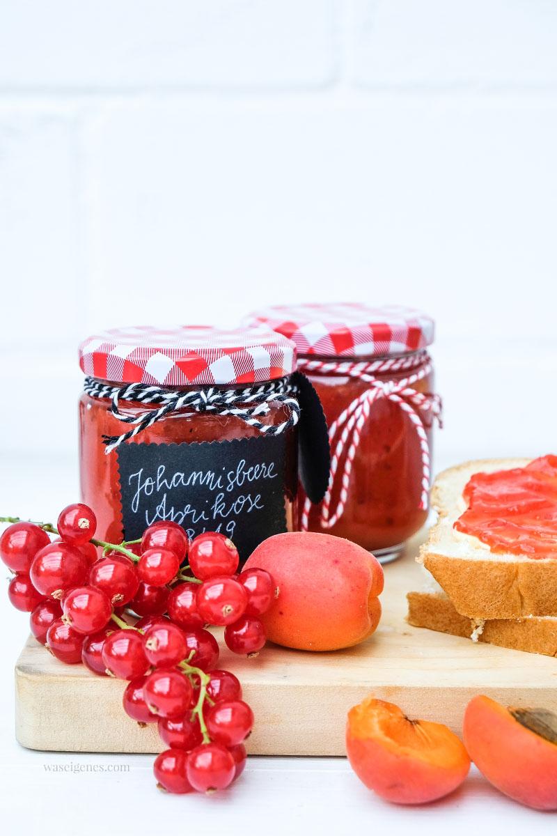 Rezept: Johannisbeer-Aprikosen-Marmelade | fruchtig, süß, sauer | Sommermarmelade, waseigenes.com