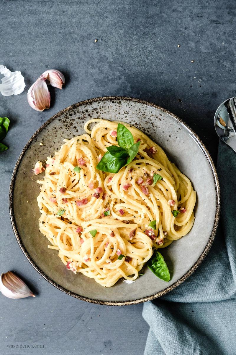 Rezept: Spaghetti Carbonara | Ein Nudelgericht Klassiker, waseigenes.com #waseigenes