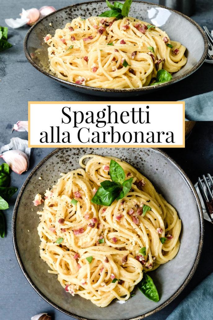 Rezept: Spaghetti Carbonara (ohne Sahne) - ein schnelles und einfaches Nudelgericht | waseigenes.com
