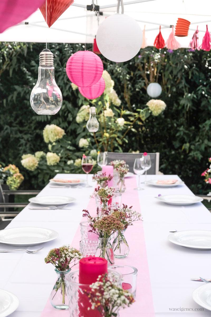 Tschüss Sommerferien! Unser alljährliches Ferien-Abschlussgrillen mit Freunden | Tischdeko Gartenfest | waseigenes.com