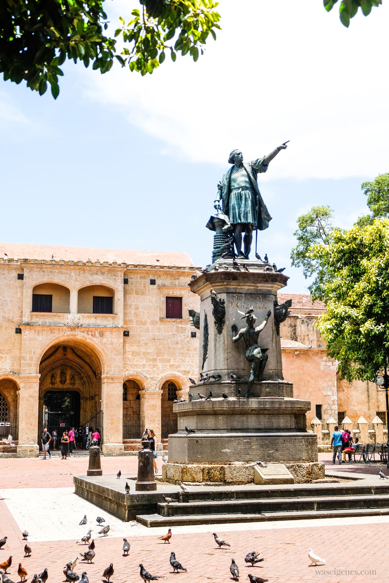 Santo Domingo - Hauptstadt der Dominikanischen Republik - Christoph Kolumbus Denkmal - Parque Colón, waseigenes.com