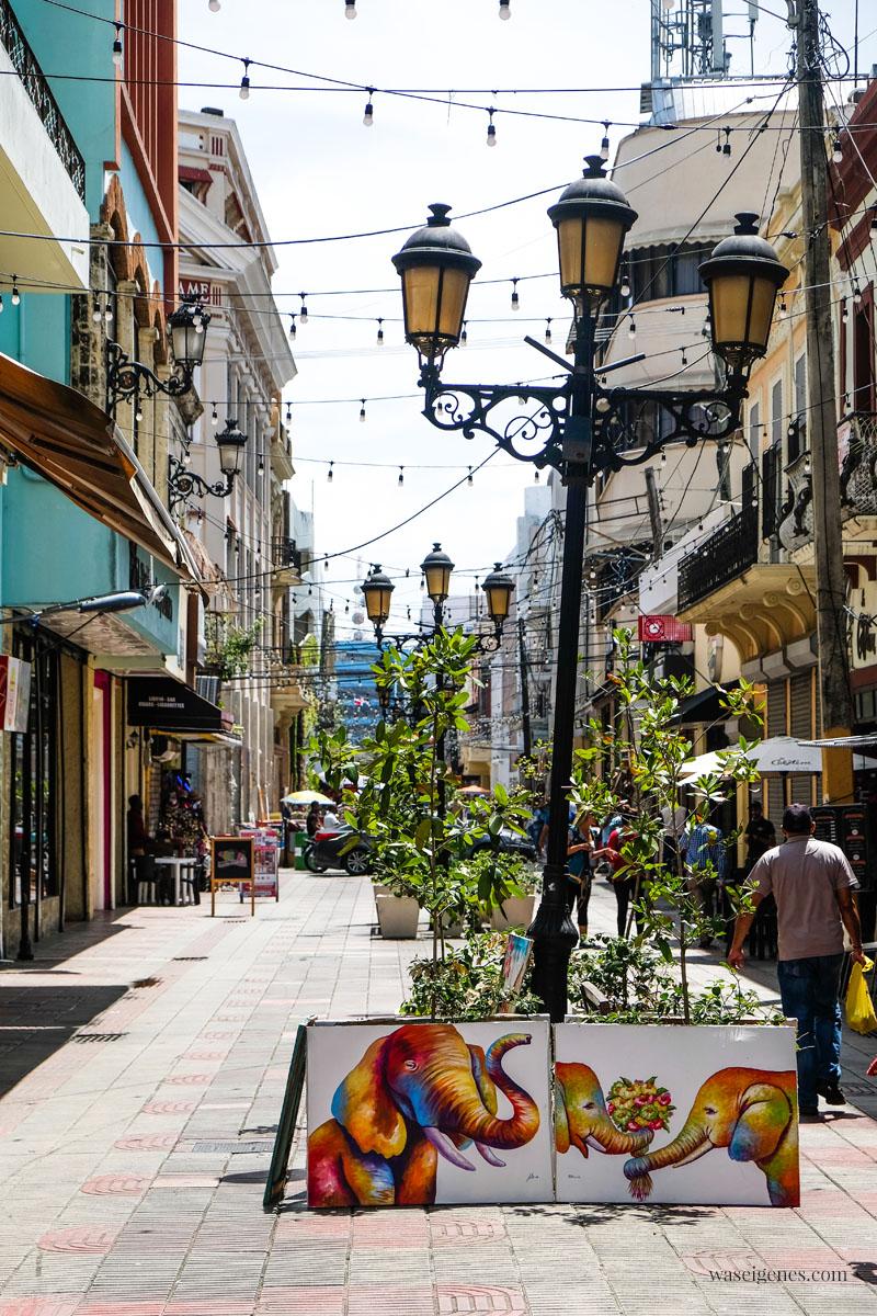 Calle El Conde Einkaufsstraße in Santo Domingo -  Dominikanischen Republik, waseigenes.com