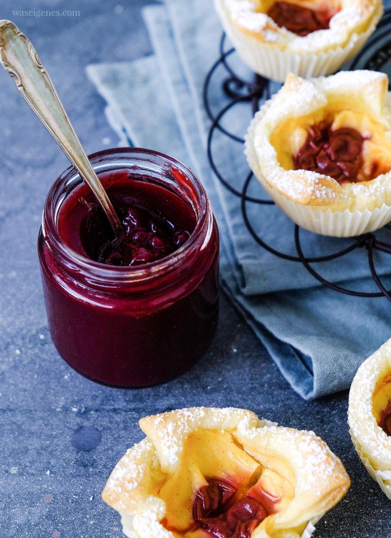 Rezept: Kirschmarmelade - Thermomix Rezept | Passt perfekt zu Blätterteig-Pudding-Teilchen | waseigenes.com
