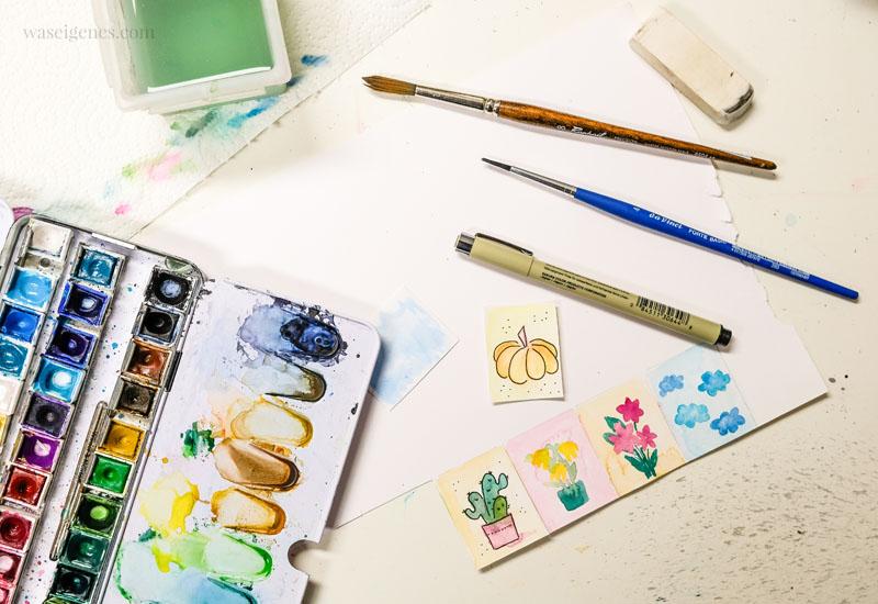12 von 12 im Oktober 2019 - Mein Tag in Bildern | waseigenes.com Aquarell