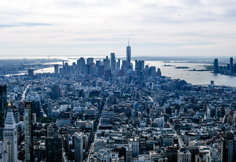 New York von oben - Ausblickevom Empire State Building auf das One World Trade Center | waseigenes.com