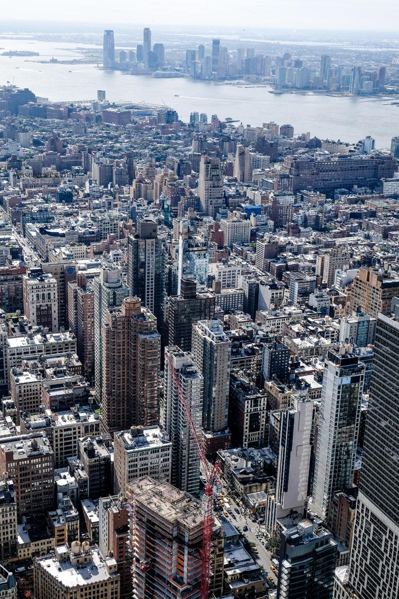 New York - Ausblick vom Empire State Building Richtung New Jersey | waseigenes.com
