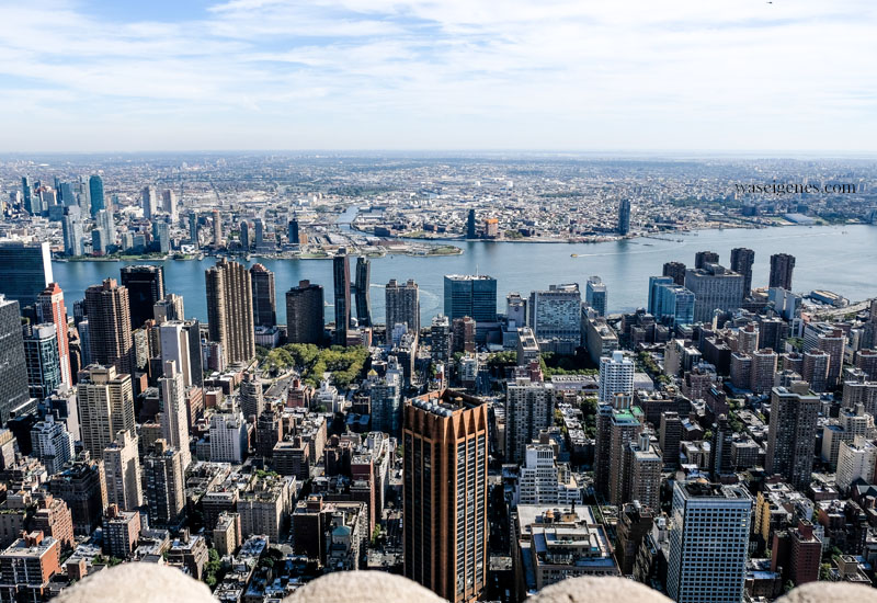 New York von oben - Top of the Rocks (Rockefeller Center)und Empire State Building | Blick auf Brooklyn | waseigenes.com