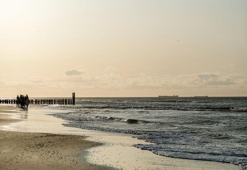 Urlaub in Holland - Strand in Domburg bei Sonnenuntergang, waseigenes.com