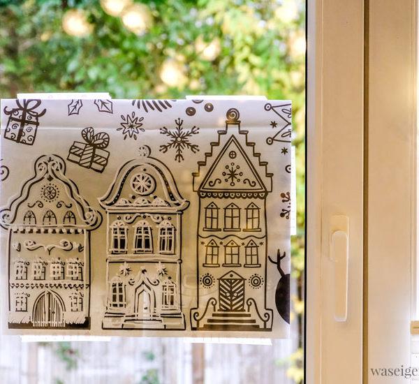 12 von 12 im November 2019 | Mein Tag in Bildern | waseigenes.com | Fenster bemalen