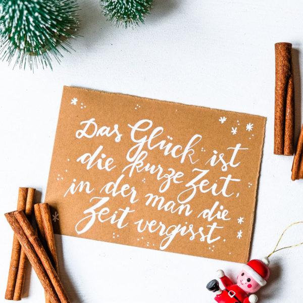 Adventskalender der guten Gedanken & Wünsche ~ Türchen Nr. 1. Das Glück ist die Zeit, in der man die Zeit vergisst. waseigenes.com