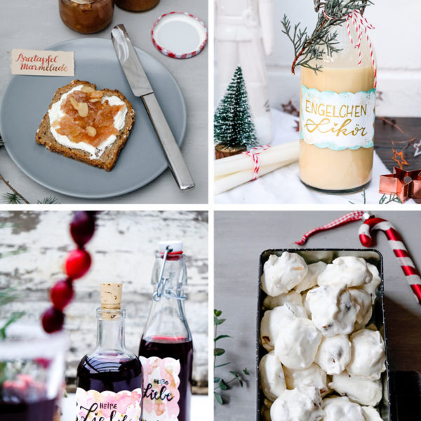 Geschenke aus der Kueche - Bratapfel Marmelade, Engelchen Likoer, Heisse Liebe Likoer, Dattel Mandel Busserl, waseigenes.com