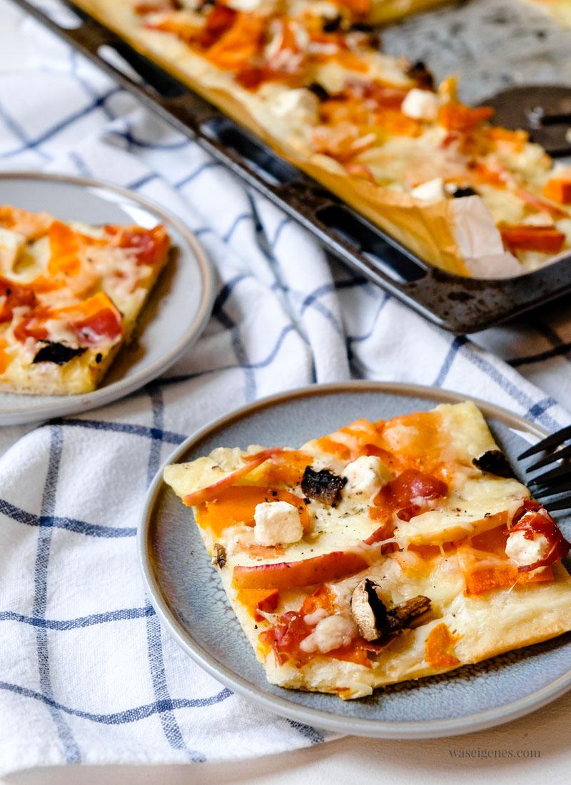 Rezept: Kürbis-Apfel-Pizza | schnelle Mittagessen Inspiration, waseigenes.com