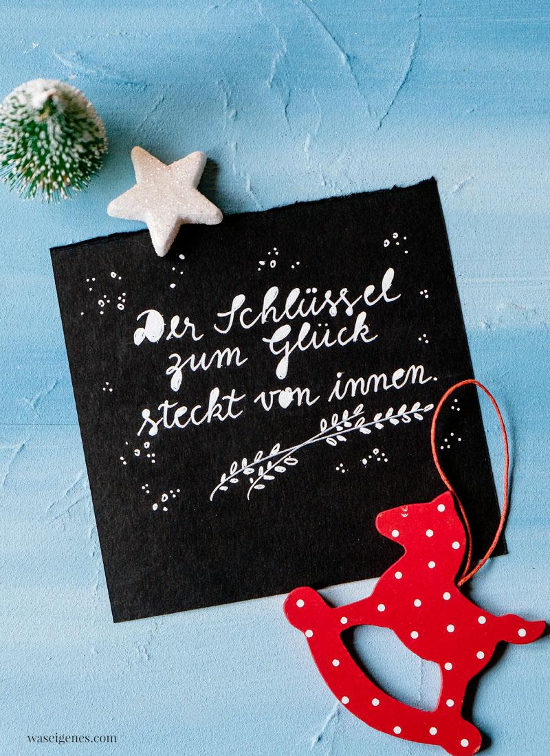 Adventskalender der guten Gedanken & Wünsche {Türchen Nr. 11} ~Der Schlüssel zum Glück steckt von innen | waseigenes.com