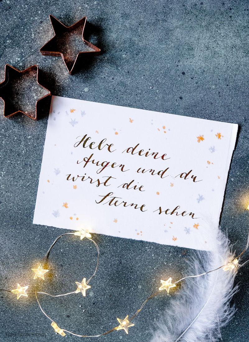 Adventskalender der guten Gedanken & Wünsche ~ Türchen Nr. 2: Hebe deine Augen und du wirst die Sterne sehen | waseigenes.com