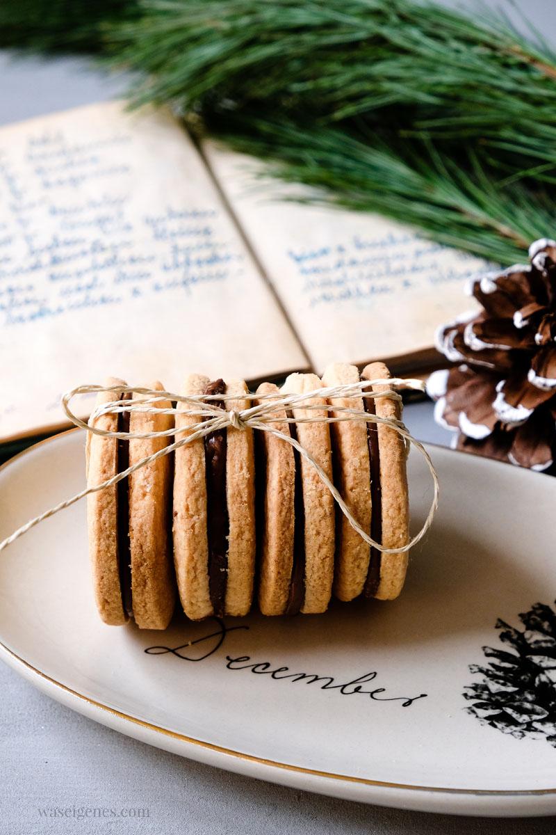 Weihnachtsplätzchen Rezept: Nougat Plätzchen | waseigenes.com