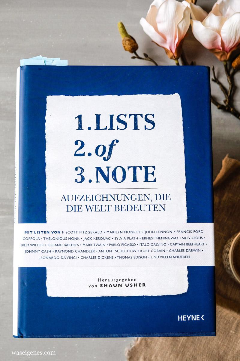 Buchempfehlung: Lists of Note. Interessante und inspirierende Listen berühmter Menschen | waseigenes.com