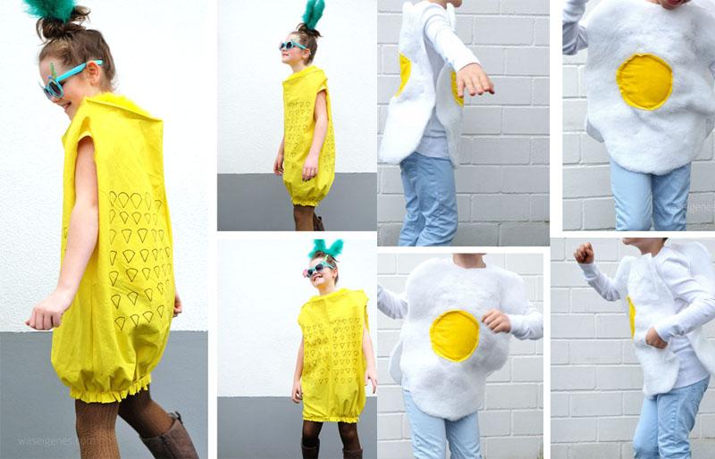 DIY Karnevalskostüme: Ananas und Spiegelei | waseigenes.com