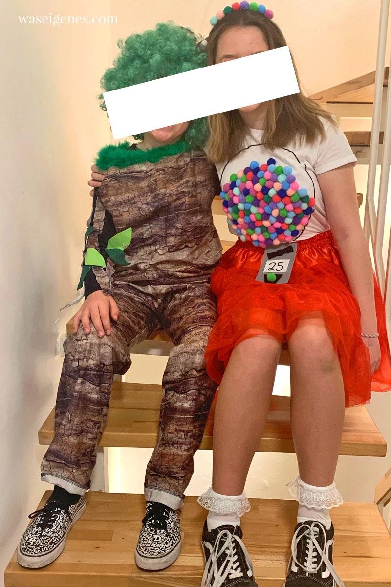 DIY Karnevalskostüm: Baum und Kaugummiautomat, waseigenes.com
