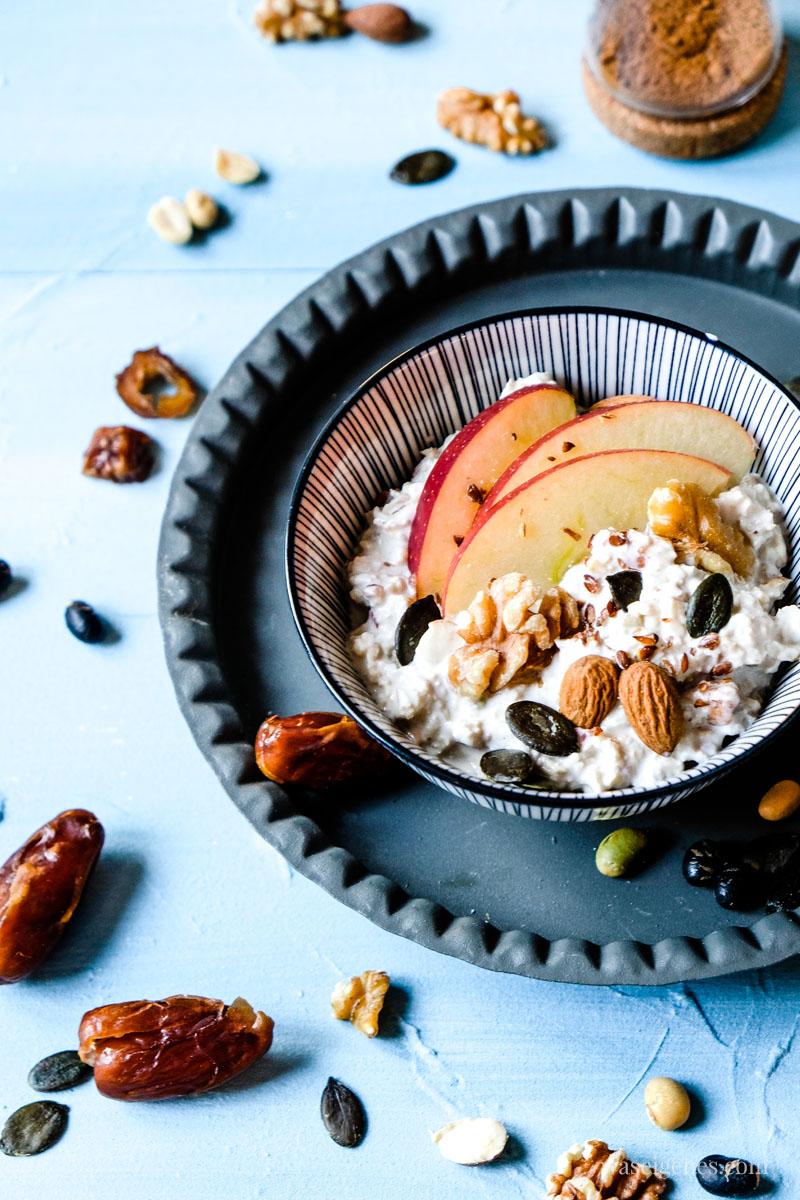Was esse ich heute? Rezept: Bircher Müsli aus dem Thermomix | waseigenes.com | #waseigenes #birchermüsli #thermomix