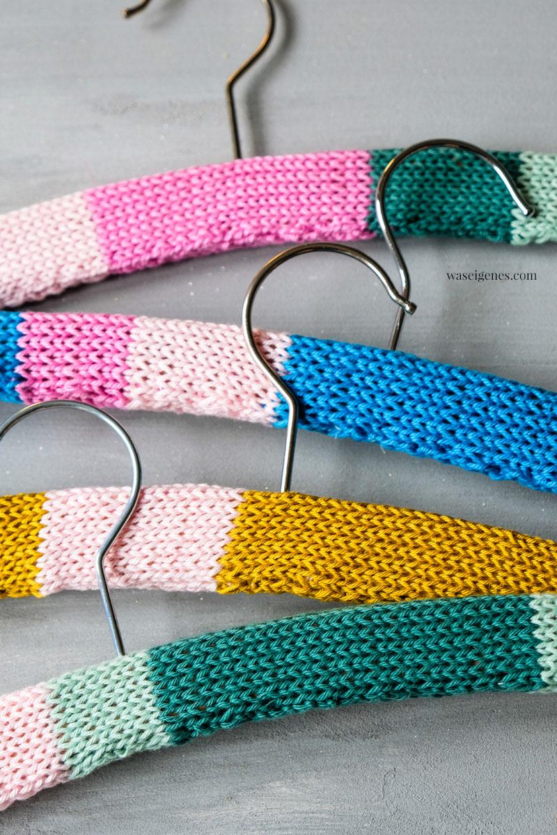 DIY - Handarbeit: Bezogene Kleiderbügel | Kleiderbügel umstricken, waseigenes.com