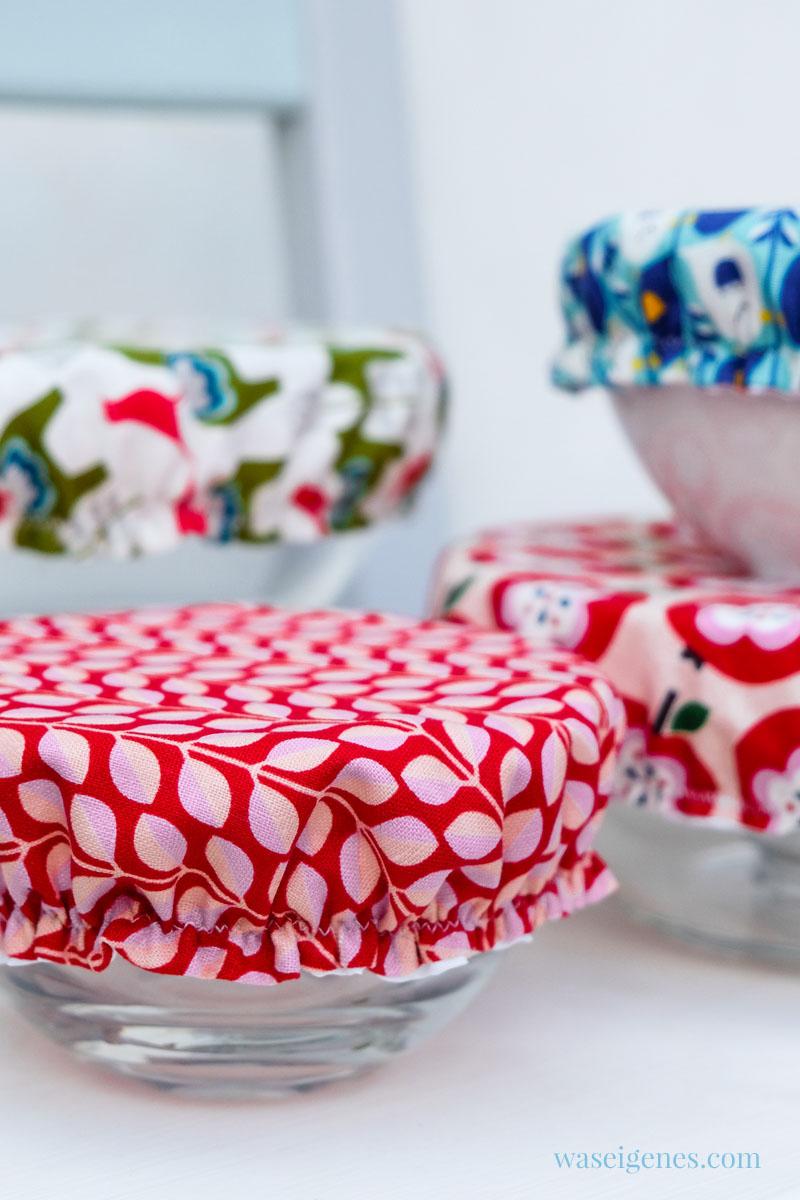 DIY Schüsselhauben aus hübscher Baumwolle und Duschvorhangstoff, waseigenes.com