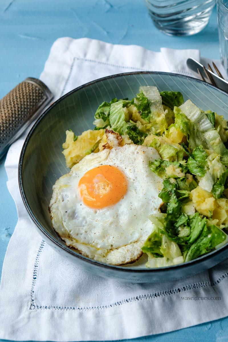 Rezept: Kartoffel-Endivien-Stampf  mit Spiegelei | waseigenes.com