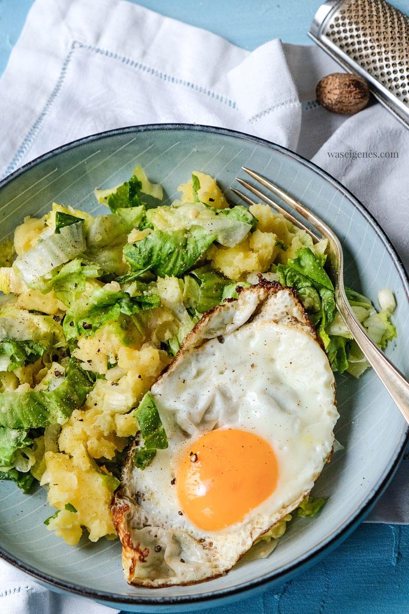Kartoffel-Endivien-Stampf  mit Spiegelei, waseigenes.com
