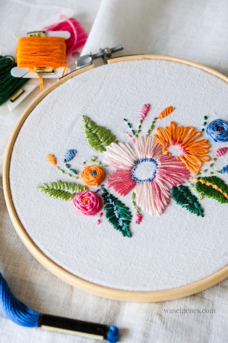DIY Florales Stickbild | Handarbeit sticken, waseigenes.com