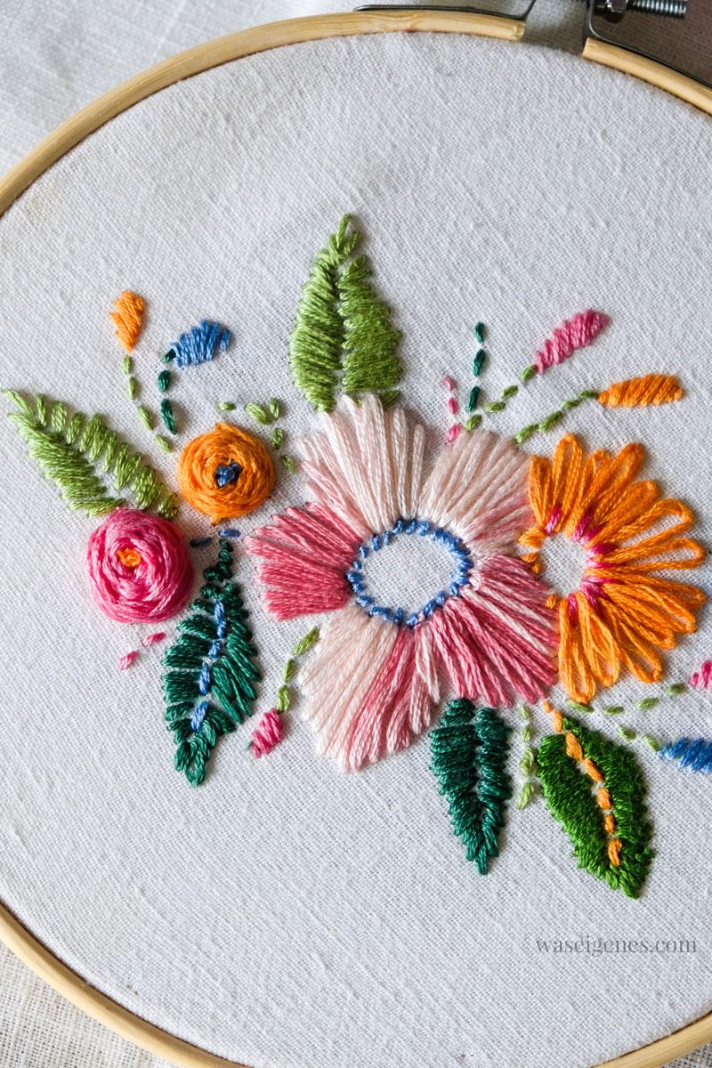 DIY Handarbeit sticken, Blumen sticken, waseigenes.com
