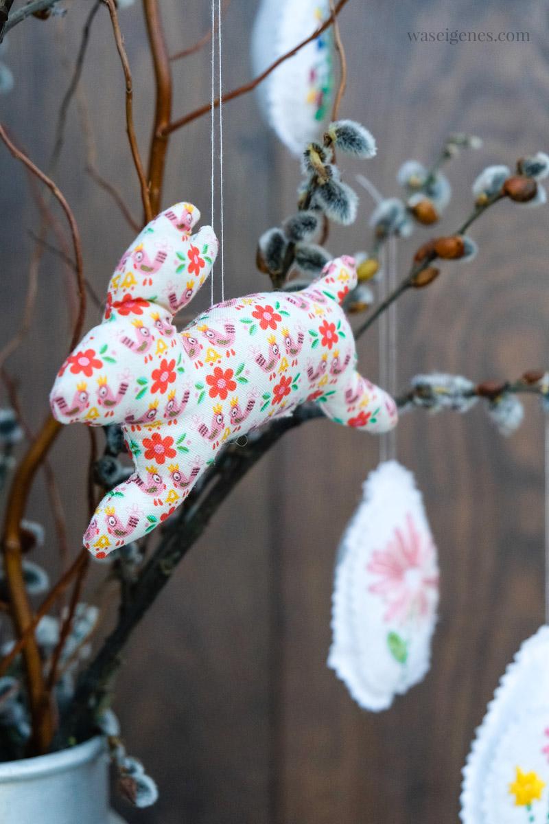 DIY Ostern: Kleine Hasen aus Stoff und Füllwatte nähen, waseigenes.com