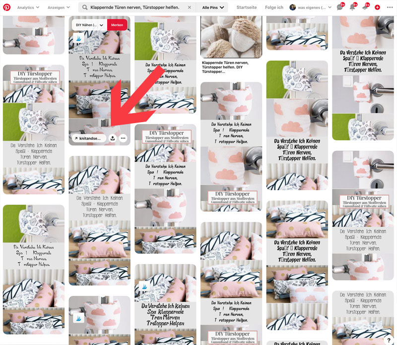 Klapperende Türen nerven, Türstoppfer helfen - waseigenes.com bei Pinterest