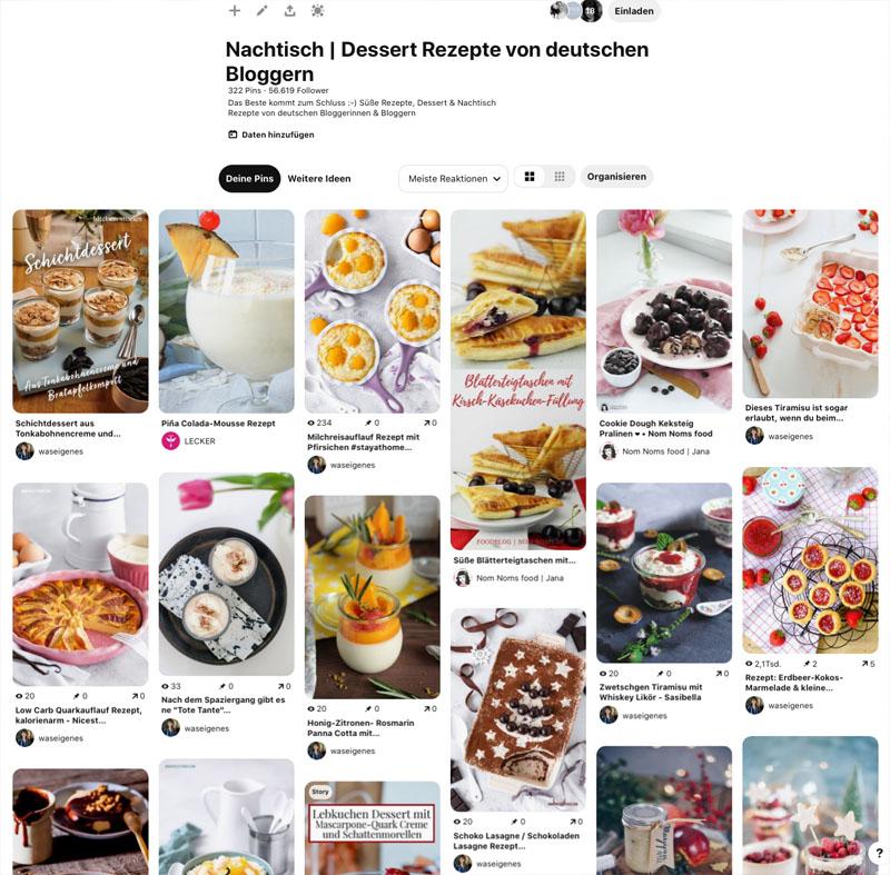 Gruppen-Board: Nachtisch und Dessert Rezepte von deutschen Bloggerinnen und Bloggern, waseigenes.com