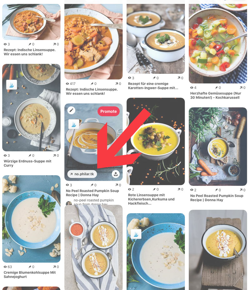 Pinterest - richtig und clever pinnen. Vorsicht und Achtung vor Spam Seiten, waseigenes.com