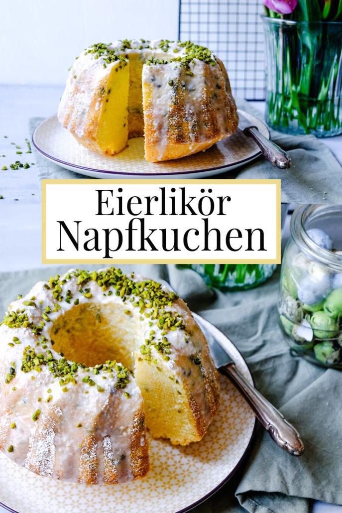Rezept: Eierlikör Napfkuchen (Gugelhupf) mit Puderzucker Glasur und Pistazien | waseigenes.com